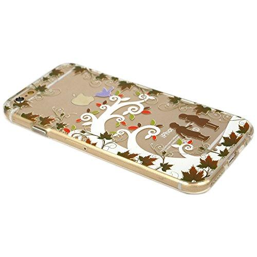 Cover iPhone 5/5S/SE, TrendyBox Cute Case Cover per iPhone 5 5S SE con Vetro Temperato Pellicola Protettiva (Angelo e Coniglio Rosa) Fiabe