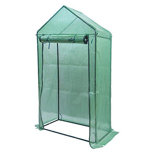 Yorbay Foliengewächshaus Gewächshaus für Tomaten, mit Gitternetzfolie für Garten zur Aufzucht, spitzdach, Grün, 100×50×190cm (LxBxH)