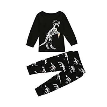 SHOBDW Infant Toddler Leopard Print Long Sleeve Top Girls Clothes Pants Set Pajamas Home Service Kids Baby Tops Sleepwear Outfits