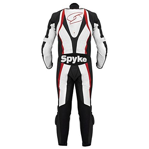 Spyke-Blaster-III-Tute-in-Pelle-Moto-Per-Uomo-Bianco-Nero-Rosso-EU60