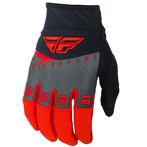 FLY Course 2019 F-16 Gants Motocross - Rouge Noir Gris, Large
