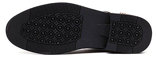 Anlarach Classique Oxford Hommes Brogue Cuir Marron Noir Chaussures Marron