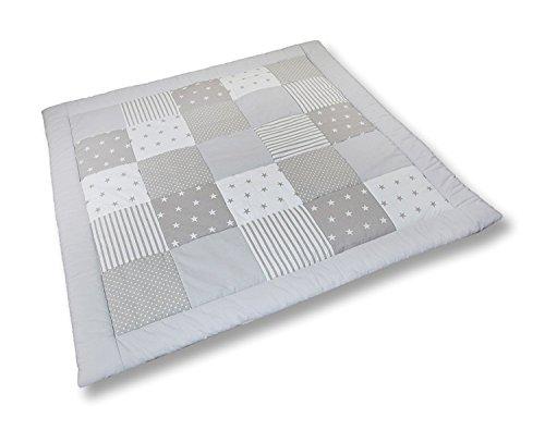 Krabbeldecke Patchworkdecke Spieldecke Decke (M032) (125x125 cm)