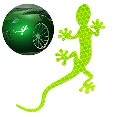 Fansport Auto Aufkleber Kreative Mode 3D Gecko Reflektierende Auto Aufkleber Auto Dekor Aufkleber