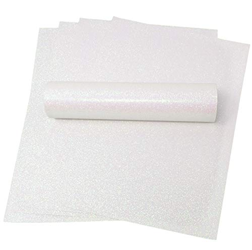 A4 Glitzer Papier irisierend weiß Soft Touch Fusselfreier Dick 150 gsm Papier Pack 10 Blatt