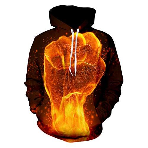 MäNner 3D Print Voller Power Energy Sweatshirt LäSsige Crewneck Freizeit Sportwear Sweats Tops Full of Power XXL