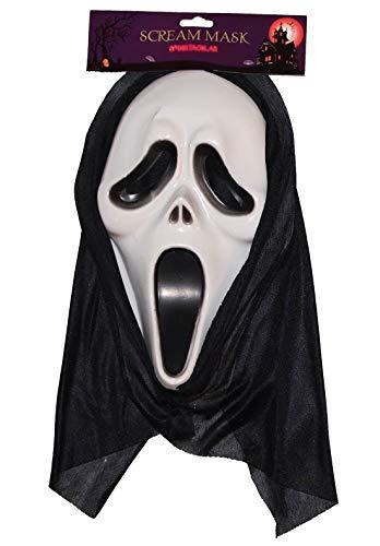 Islander Fashions Erwachsene Horror Scream Overhead Maske Herren Geist Gesicht Halloween Party Zubeh�r ()