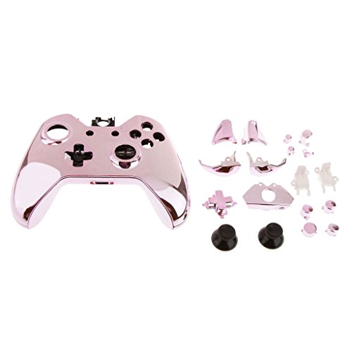 Banggood ELECTROPRIME Chrome Protective Skin Case Cover Skin for Xbox One Controller Pink
