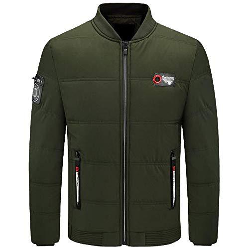 jacke Herbst Winter Pure Color Pullover Langarm Dicke Outwear Jacke (XL,Grün) ()