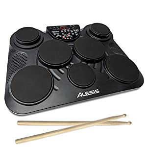 Alesis CompactKit Portable Electronic Drum Kit with Coach Feature and Game Function - incl. drumsticks