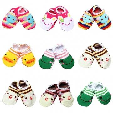 Cabrito del bebé antideslizante calcetines botines Medias Zapatos 6-24 Meses.