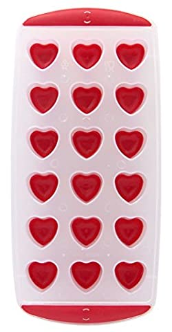 CHIC*MALL Silicone Chocolate Mold Maker Ice Cube Tray Freeze Mould Bar Pudding Jelly (heart)
