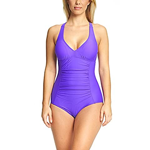 Zoggs Women's Havana Poolside Trinity Twistback, Purple, 42-inch/Size