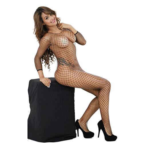 Jaminy Women Sexy Lingerie Fishnet Crotchless Babydoll Bodysuits Nightwear Sleepwear