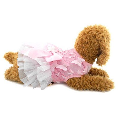 zunea Schmetterling Gaze Schleife Sommer Pet Tutu Kleid Puppy Formale Rock Prinzessin Mädchen Kleiner Hund Katze Sundress Geburtstag Party Kleidung