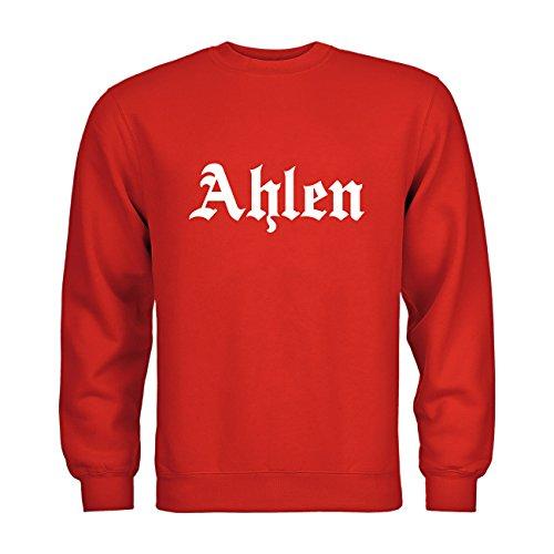 dress-puntos Kids Kinder Sweatshirt Ahlen Schriftzug 20drpt15-ks00961-170 Textil red / Motiv weiss Gr. 152/164