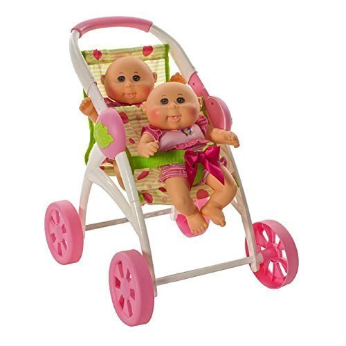 cabbage-patch-kids-twin-cuddle-n-stroll-2-dolls-with-double-stroller-included-by-cabbage-patch-kids