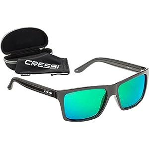 Cressi Rio Gafas de Sol, Unisex Adulto, Negro/Verde, Talla Única