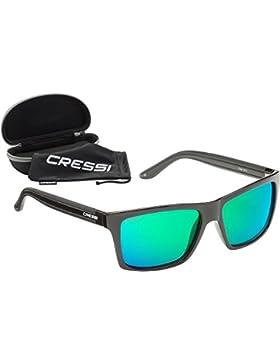 Cressi Rio - Gafas de Sol, Unisex, Adulto, Negro/Verde, Talla Única