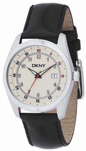 DKNY Ny1278pour homme Bracelet Noir avec cadran blanc montre
