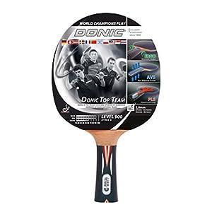Donic-Schildkröt Tischtennisschläger Top Team 900, AVS & Pls-Griff, 2,0 mm Schwamm, Alpha Slick – ITTF Belag, 754199