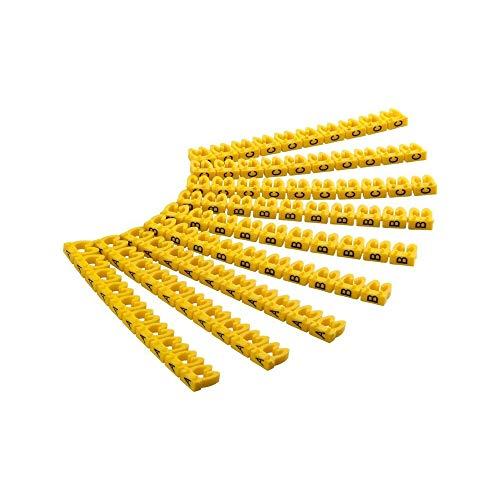 """Goobay 72517 Kabelmarker-Clips \""""A-C\"""" für Durchmesser, 4,0 mm gelb"""