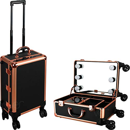 Ver Beauty DVLR004-71 Kosmetikkoffer mit rosegoldfarbenem Rand