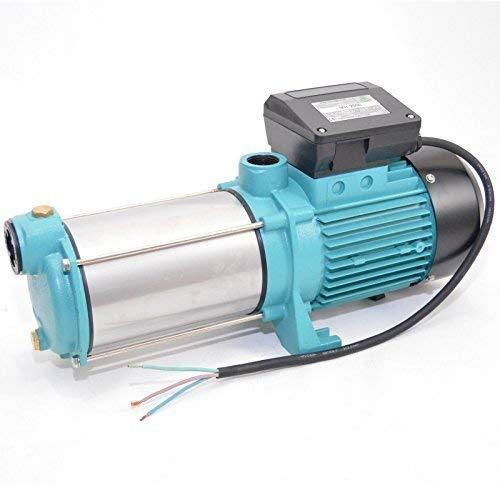 Gartenpumpe MH2000 - 2000Watt - 230V - Förderleistung 7800 L/h - 7,5bar. Robuste und rostfreie Edelstahlwelle + integrierter thermischer Motoschutzschalter + Rückschlagventil. -