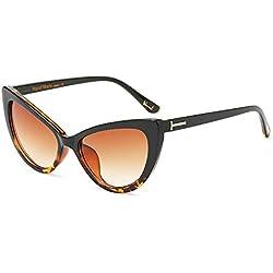 Bmeigo Gafas De Sol para Mujer Retro Vintage Ojos de gato Style Gafas Moda Sunglasses Gradient Lens Eyewear