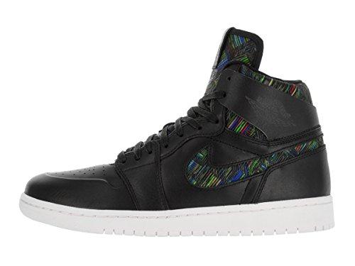 Jordan Air Jordan 1 Retro High NOUV BHM Hommes Cuir Baskets Black-White-Black-Vltg Green