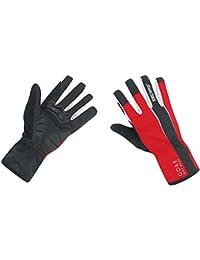 GORE BIKE WEAR Power Windstopper Soft Shell - Guantes de ciclismo para hombre, color negro/rojo, talla 9