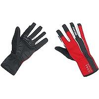 GORE BIKE WEAR Power Windstopper Soft Shell - Guantes de ciclismo para hombre, color negro/rojo, talla 8