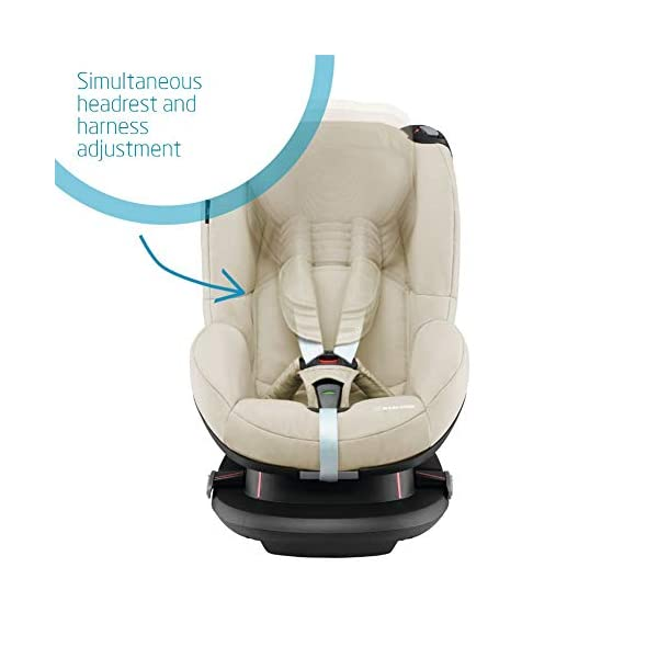 Maxi-Cosi Tobi Toddler Car Seat Group 1, Forward-Facing Reclining Car Seat, 9 Months-4 Years, 9-18 kg, Nomad Sand Maxi-Cosi Toddler car seat suitable for children from 9 to 18 kg (approximately 9 months to 4 years) Install theMaxi-Cosi Tobi car seatusing the car's seat belt and the integrated belt tensioner ensures a solid fit Spring-loaded, stay open harness to make buckling up your toddler easier as the harness stays out of the way 3
