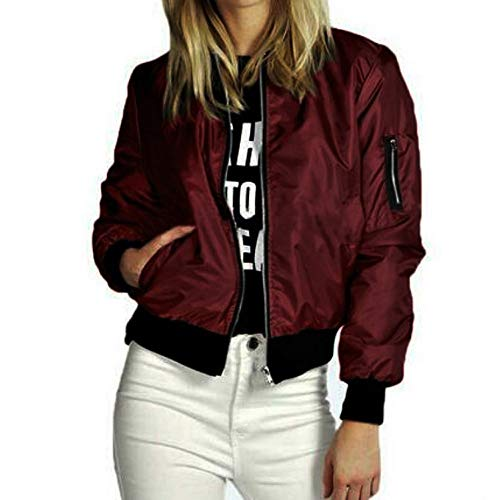 TianWlio Damen Jacke Frauen Frauen Slim Biker Motorrad Weicher Reißverschluss Kurzmantel Jacke