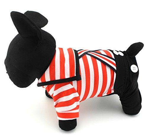 ranphy Kleine Haustiere Kleidung für Katzen Striped SAILOR Outfit Hund Jumpsuit Kostüm Puppy (Face Kostüm Dog Puppy)