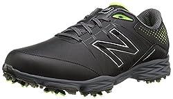 New Balance Men's Nbg2004 Golf Shoe, Blackgreen, 12.5 D(m) Uk47.5 D(m) Eu
