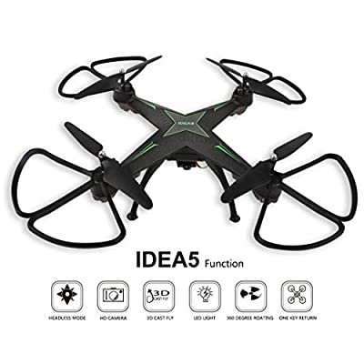 CHshe Drone,Quadcopter Hover HD RC Quadcopter Drone FPV RTF Altitude Hold, Long Control Distance