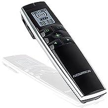 Newmen 2,4gHz Wireless Presenter Puntero láser, batería PowerPoint Presentación Mando con luz verde y pantalla LCD, P600