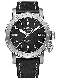 "Glycine Airman ""Double Twelve"" Automatic Watch, GL 224, GMT, Black, 42mm, GL0063"