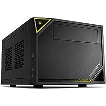 Sharkoon SHARK ZONE C10 Negro, Amarillo carcasa de ordenador - Caja de ordenador (PC, Mini-ITX, Negro, Amarillo, Juego, 15 cm, 31,5 cm)