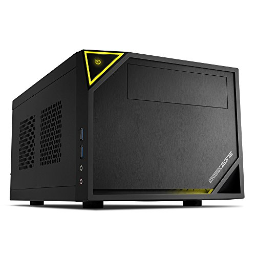 Sharkoon Shark Zone C10 PC-Gehäuse (Mini-ITX, 1x 5,25 extern, 1x 2,5 Zoll/3,5 Zoll intern, 2x USB 3.0)