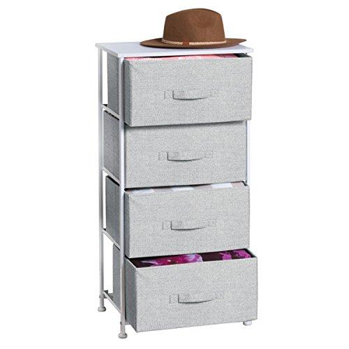 mDesign Comoda con 4 cajones - Organizador de armarios y vestidores en...