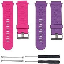 chofit–Correas de repuesto (1Pack, 2unidades) para Garmin Forerunner 920X T, ajustable suave silicona Sport Band con herramientas de instalación para Forerunner 920X T, Rose Red&Purple