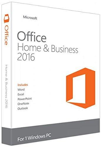 Preisvergleich Produktbild Microsoft Office Home & Business 2016 für 1 PC - Neu & unbenutzt - (Produktschlüssel ohne Datenträger) - Beinhaltet Word,  Excel,  Outlook,  Powerpoint und One Note
