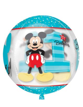 Amscan International 343460115Zoll Mickey Mouse 1. Geburtstag Boy klar Orbz Folienballon