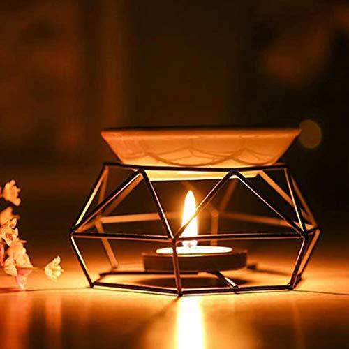 Paletur88 Aroma Difusor Negro Vela Regalos Hierro Aceite Quemador Manualidades Yoga Decoración Hogar...