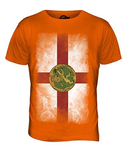 CandyMix Alderney Verblichen Flagge Herren T Shirt Orange