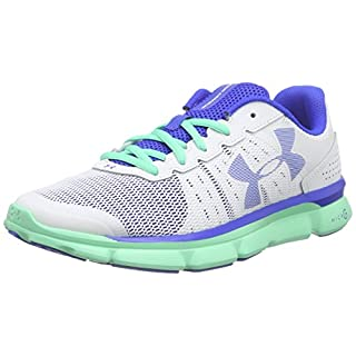 Under Armour UA W Micro G Speed Swift, Damen Laufschuhe, Weiß WHT/ANF/UBL 100, 36 EU