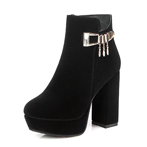 voguezone009-womens-round-closed-toe-low-top-high-heels-solid-flock-boots-black-39