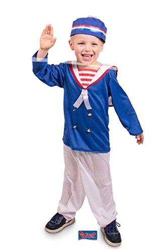 Kostüm Seemann Kinder - Folat 63271 -Kostüm Seemann, 3-teilig, Kinder Größe M